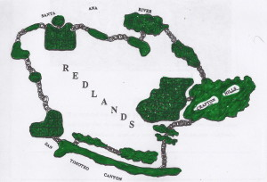 Redlands Conservancy - emerald necklace map