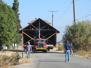 Redlands Conservancy historic preservation - Barton School House move