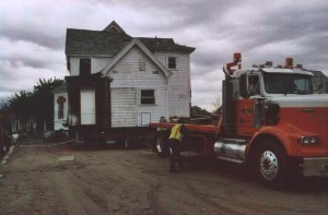 Redlands Conservancy historic preservation - Marten Anderson house move